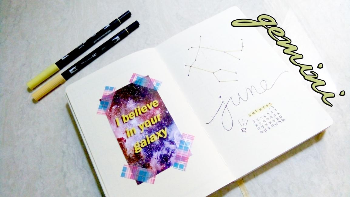 june journal spread 2