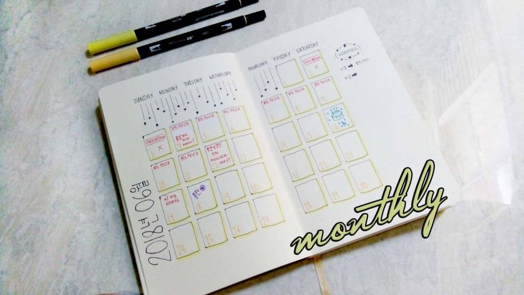 monthly spread 8