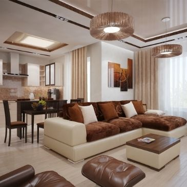 brown home interior