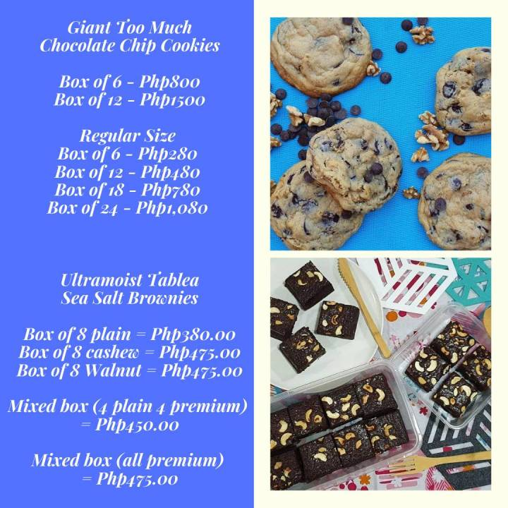 too much chocolate chip cookies price list