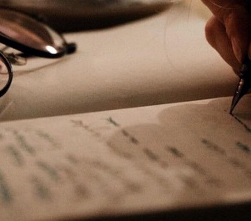 writing brown aesthetic