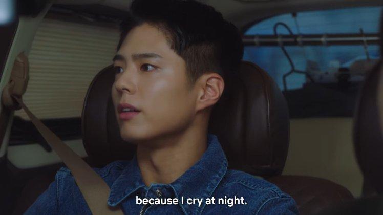 crying at night